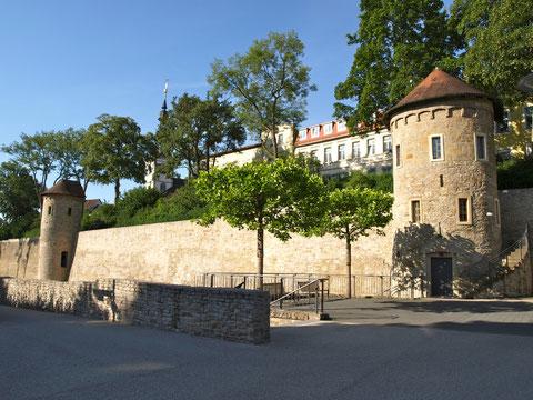 Ein Stück Stadtmauer in Schweinfurt heute