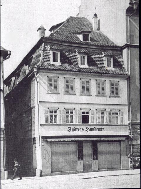 Markt 19 um 1905 - Andreas Hundemer, Kaufmann