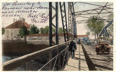 Gasthof Ludwigsbrücke um 1925 - ein gutbürgerliches Haus mit Logis und Zentralheizung. Besitzer K. Bandorf