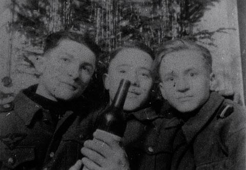 Weihnachten 1944 - Ossi Gerlach, Ludwig Wiener u. Achim Schürer