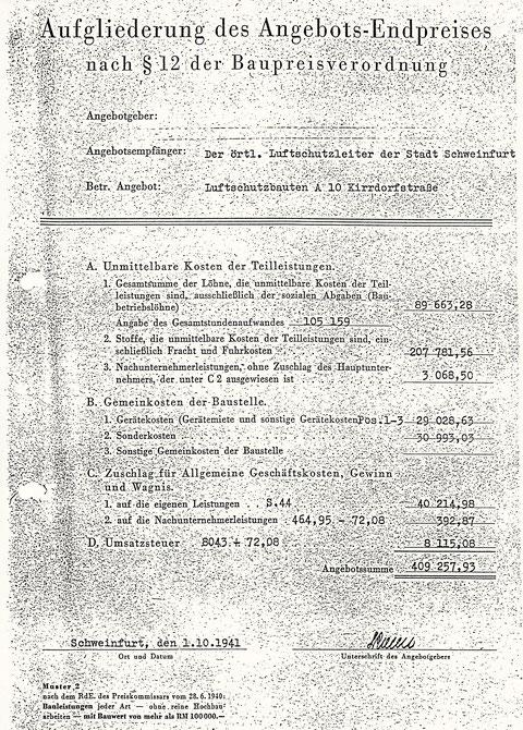 """Angebot für den """"Bahnhofsbunker"""" - Die Wohlfahrtstraße hieß während der Zeit des Nationalsozialismus Kirrdorfstraße"""