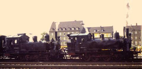 98 812 + 98 886 Schweinfurt im Jahr 1969
