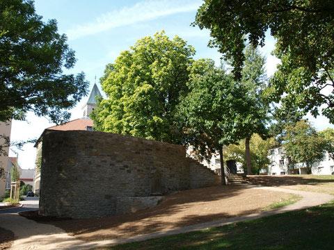 Stadtmauer im alten Friedhof