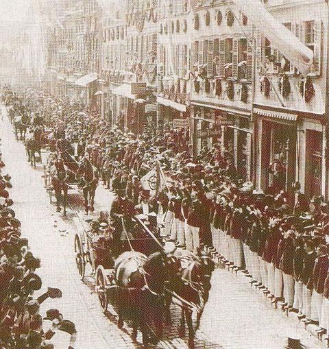 Prinz Ludwig in der Spitalstraße 10.5.1903