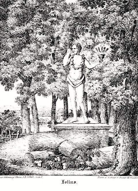 Die oft kopierte spätere Abbildung des Lollus ist eine Lithographie von Friedrich Kornacher, die auch etwa C.H. Beck in seine Chronik von 1836 mit einfügte.