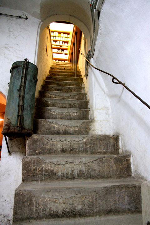 Der Eingang zum inneren Keller