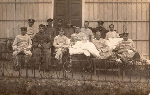 Verletzte Soldaten in Schweinfurt - Mai 1916
