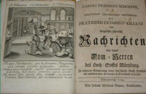 Karl Friedrich Schoepff: Nachrichten von denen Dom-Herren des Hoch-Stifftes Würtzburg 1741
