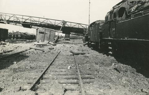 Original Dampflok Foto Eisenbahn - 78 491 -  Schweinfurt Mai 1945