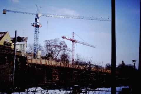 Bau der Brücke des Paul-Rummert-Rings 30.11.1980 - Danke an Christel Feyh - Fotograf Helmut Feyh