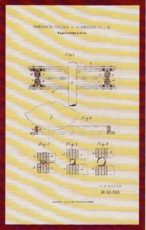 Patenturkunde für Kugelfräsmaschine