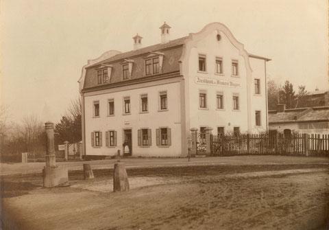 Philosophengang 9, Gaststätte Brauerei Wagner (Grüner Baum) um 1900