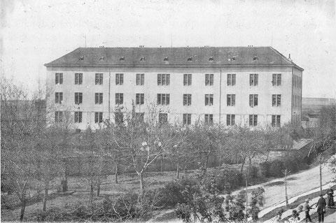 Das Spital an der Rüfferstraße, erbaut 1844/45 und abgebrochen 1902