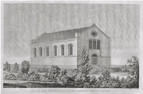 1850 - Neubau der freien christl. Gemeinde (später Stadttheater s.o. ) - damals hieß der Platz noch nicht Schillerplatz