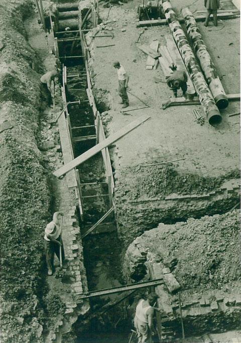Bau der 400er Spaltgasleitung