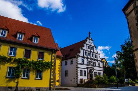 Martin-Luther-Platz mit Pfarrhaus und Altem Gymnasium