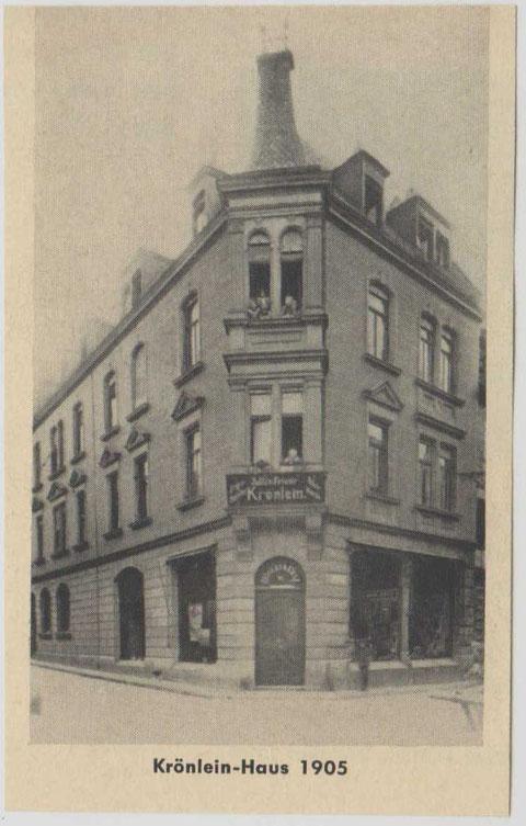Krönlein 1905 - offizielle Anschrift: Keßlergasse 28