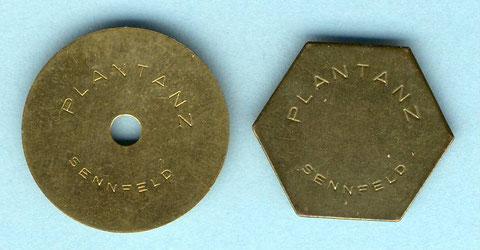 Plantanzmarken um 1960. Rückseite jeweils blank
