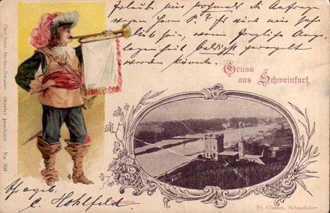 Grußkarte 1900