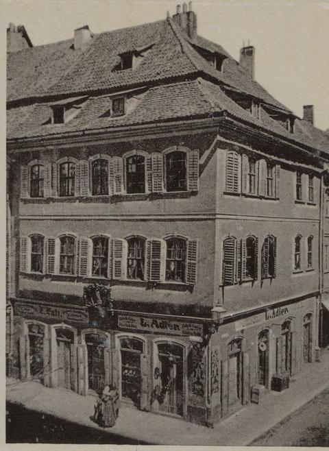 Geburtshaus Friedrich Rückerts mit Kaufladen Ludwig Adler Markt 2
