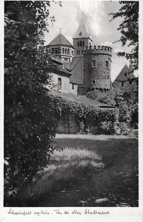 Stadtmauer West - heute Kaufhof mit Parkhaus - ca. 1939