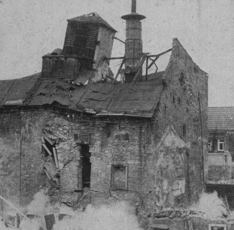 Vereinsbrauerei Sprengung durch Fa, Hoffritz Dezember 1956
