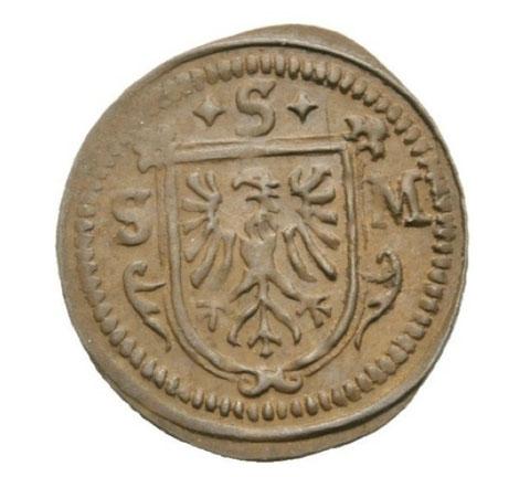 Das Wappen auf Kreutzer und Kipper-Körtling des Jahres 1622