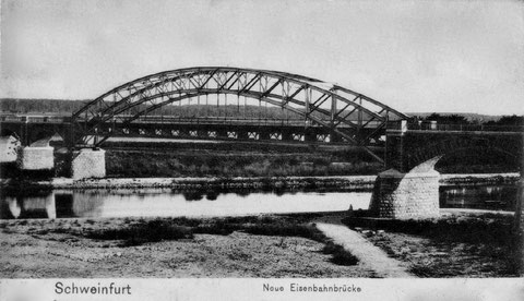 ca. 1905 - Eisenbahnbrücke Schweinfurt