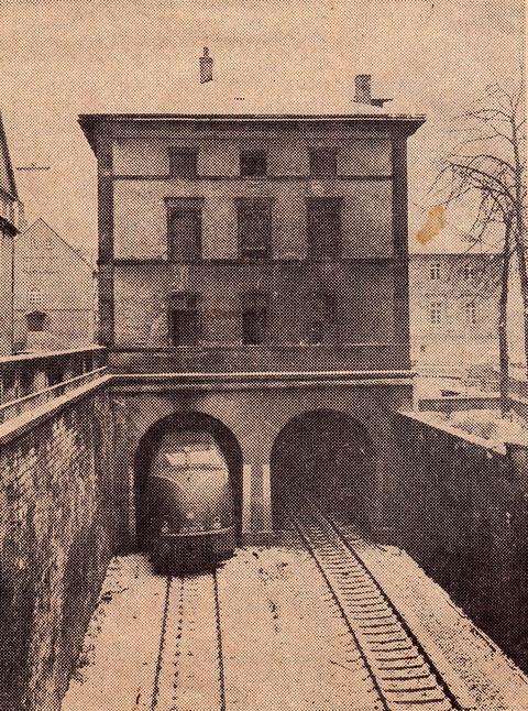 Januar 1971 - im Abbruch begriffen - Foto: Schweinfurter Tagblatt