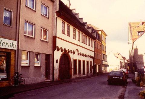 Rittergasse mit Ebracher Hof 1975