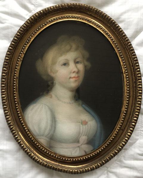 Portrait von Katharina Sattler, gemalt in Schweinfurt im Juni 1809 im Alter von 20 Jahren - Danke an Herrn Bernd Strathausen