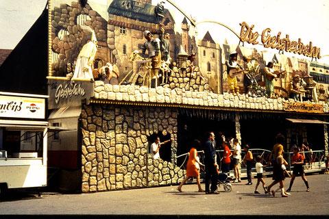 Schweinfurter Volksfest mit Geisterbahn 1960