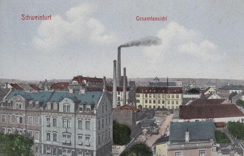 um 1900 - Hl.-Geist-Kirche im Hintergrund noch mit kurzem Turm