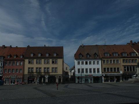 Blick über den Marktplatz zur Kesslergasse