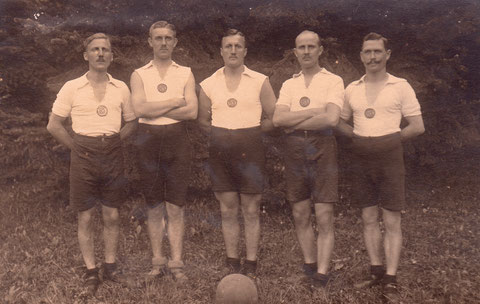 1920 - Meisterschaft in München gegen Turnerbund St. Johann Nürnberg und Turn-Verein Augsburg gewonnen