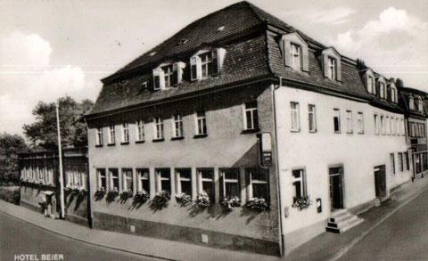 Cafe und Hotel Beier in den 1930ern