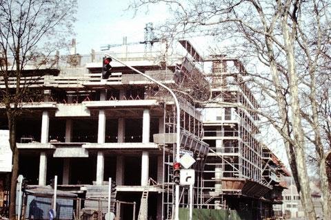 Baustelle Zentrum am Marienbach 1972