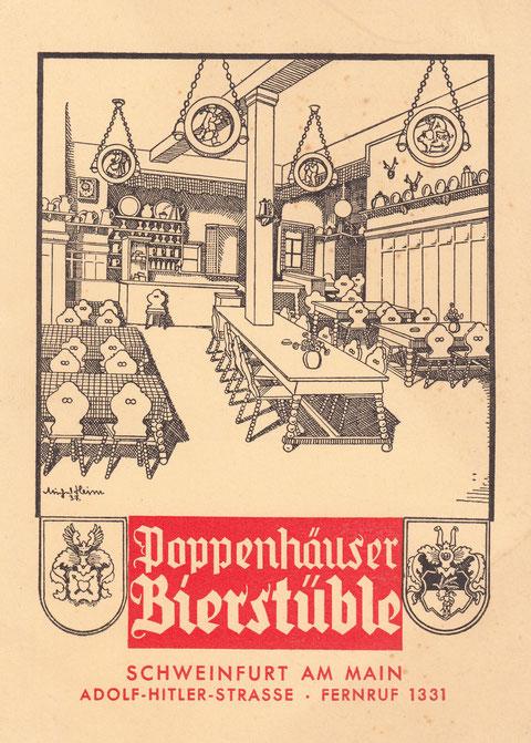 Ansichtkarte aus dem Jahr 1937 (Spitalstraße hieß damals Adolf-Hitler-Straße)