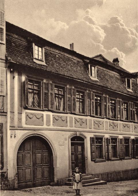 Krumme Gasse 14 im Jahr 1908