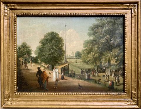 Auf dem Vogelschuss, Gemälde Katharina Sattler, geb.Geiger, Privatbesitz Schweinfurt