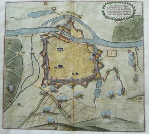 BELAGERUNG SCHWEINFURTS 1647 KUPFERSTICH MERIAN 1707