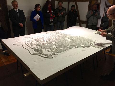 Das Stadtmodell bei der Vorstellung am 25. Februar 2015 im Stadtschreiberhaus