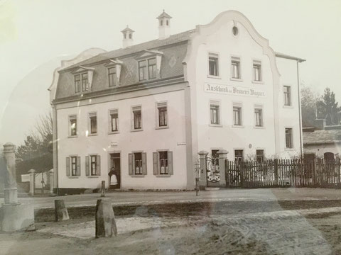 """um 1910 - spätere Gaststätte """"Grüner Baum"""" bzw. """"Habaneros"""" Ausschank der Wagner-Brauerei"""