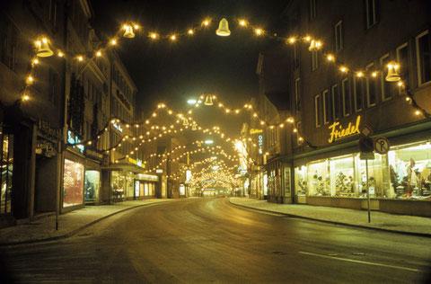 Dezember 1965 - Spitalstraße  weihnachtlich
