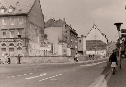 9. Juni 1973 - nach Abriss des alten Brauhausgaststättengebäudes