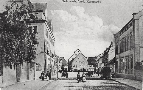 Blick auf den Kornmarkt im Jahre 1910