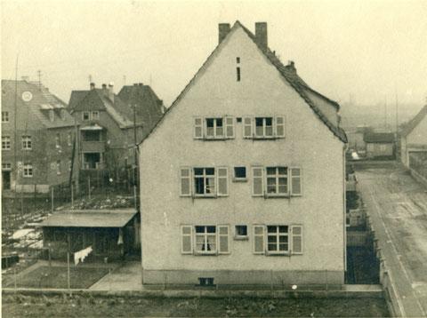 Anwesen Federlein Knaufstraße Oberndorf vor dem Bombenangriff