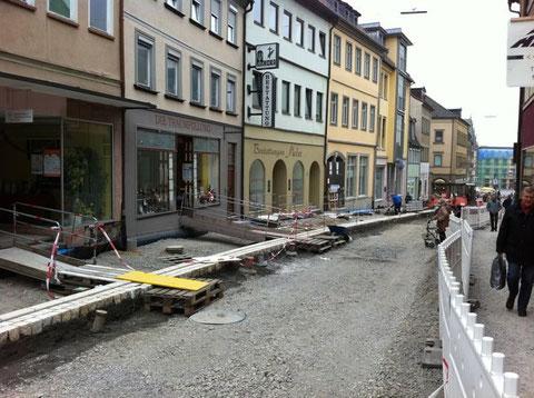 Die Obere Straße wird neu gestaltet 2012 - Foto: Waldemar Resnitzek