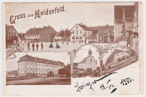 Heidenfeld im Jahr 1900 - vielen Dank an Herrn Robert Knaup