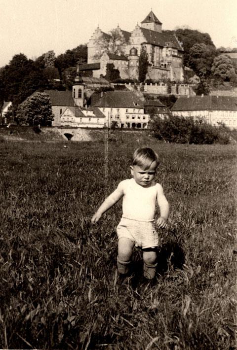 Blick zum Schloß Mainberg 1952
